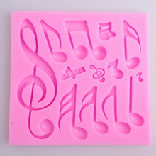 Hot Sales Beautiful And Classics Different Music Note Shape Silicone Fondant Cake Lace Mold Cake Mould, Bake Ware #f