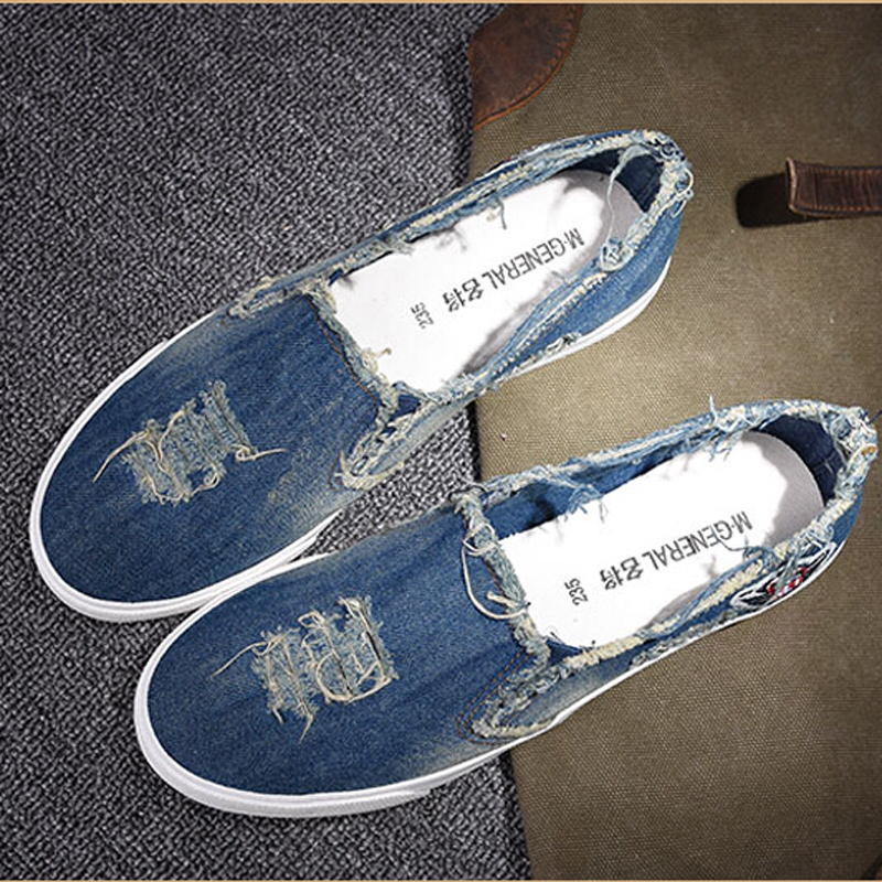 2017 casual shoes new denim cut out canvas shoes flat fashion trend nice comfortable women loafers casual shoes<br><br>Aliexpress