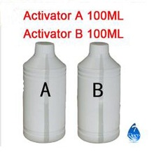 Free shipping 100ml Activator A and B for Water Transfer Printing Film , decorative material