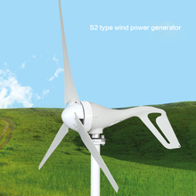 S2 3pcs or 5pcs Blades Wind Power Turbine Generator 100W 200W 300W 400W with Waterproof Charge Controller 12V 24V 220V(China)