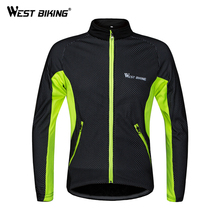 West Biking Bicycle Jacket Windproof Long Sleeves Bike Men's Winter Thermal Reflective Jersey Bike Breathable Cycling Jersey