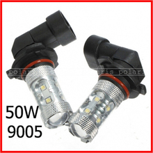 2pcs/lot super brightness 50w HB3/9005 HB4/9006  chips high power LED car light car lamp bulb 50w LED car lamp #j#