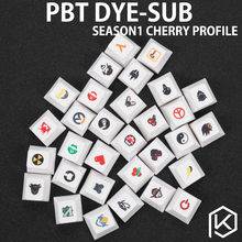 Novelty cherry profile pbt keycap for mechanical keyboards Dye Sub legends shut down steam mario cherry vim heart github Nuclear(China)