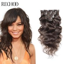 #4 Color 16-26 Inch 7 Pcs Body Wave Remy Real Clip In Human Hair Extentions 70G 200G Free Shipping Women'S Hair Extensions