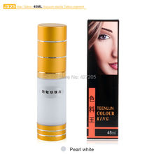 Hao Tattoo JX23 Pearl White Eyebrow Permanent Makeup Pigment Vacuum Sterile Cosmetic Tattoo Ink 45ml Makeup Supplies