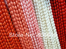 9*5MM 84Pcs Colorful Natural Coral Beads Loose Strands Jewelry Findings Accessories