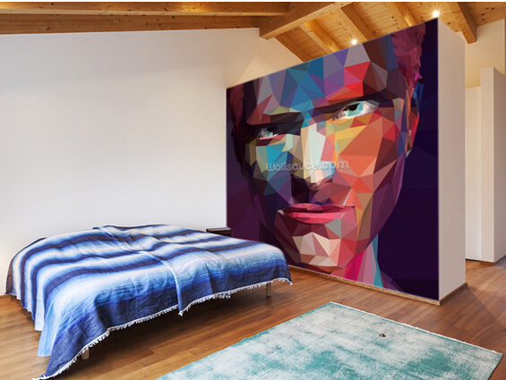 Custom abstract wallpaper,Pop Art Portrait Abstract,3D photo mural for living room kitchen sofa background waterproof wallpaper<br><br>Aliexpress