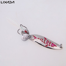 5.5cm 10g Fishing Spoon Lure Trout Metal Hard Bait Sequin Spoon Noise Paillette with Feather Treble Hook