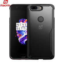 Oneplus 5T Bumper Oneplus 5T Case Cover Reinforced Corner Shock Absorbing Transparent Crystal Clear Back Cover for One Plus 5T(China)