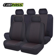 Car-pass Car Seat Covers Set Jacquard cloth 75G black mesh complex Universal Auto Seat Cover Fit Most Styling Car Accessories(China)