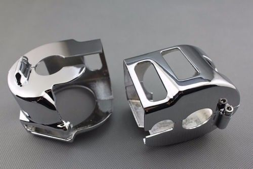 Chrome Switch Housings Fit Kawasaki Vulcan 2000 For Yamaha Road Star V Star 650 Custom<br><br>Aliexpress