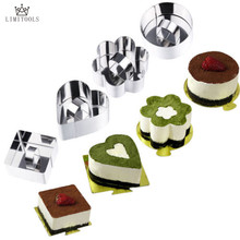 LIMITOOLS 6 Style Nice Stainless Steel Mousse Cake Ring Layer Slicer Cook Cutter Bake Cake Decorating Pastry Accessories Tools(China)