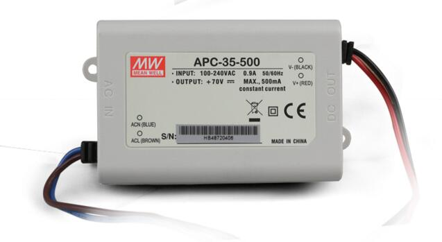 Meanwell Switching Power Supply APC-35-500 35W 25-70V 500mA constant current source LED light boxes billboards<br><br>Aliexpress