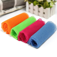 Hot Bath Shower Soap Body Wash Exfoliate Puff Sponge Mesh Net Nylon Cloth Towel(China)