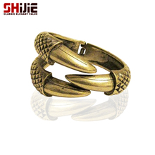 SHIJIE Vintage Cuff Braceletss & Bangles for Women Lovely Bronze/Gold/Silver color Dragon Claw Big Bracelet Mens Fashion Jewelry