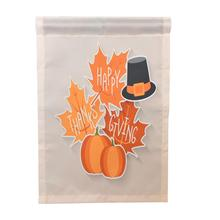 Happy Thanksgiving Garden Flags House Decor Mini Yard Banner 12'' x 18''(China)