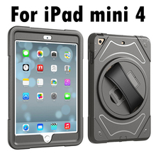 For Apple iPad mini 4 Hand Belt Holder Full Body Armor Shockproof Case Cover for iPad mini 4(China)