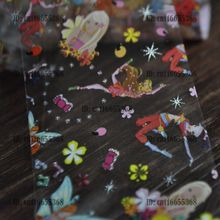 Nail Art Salon Wholesale Products Nail Art Transfer Foil Roll Happy Dancing Lady Flower Girl YC446