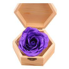 Soap Flowers Gifts box for birthday Gifts Teacher's Gifts(Purple)(China)