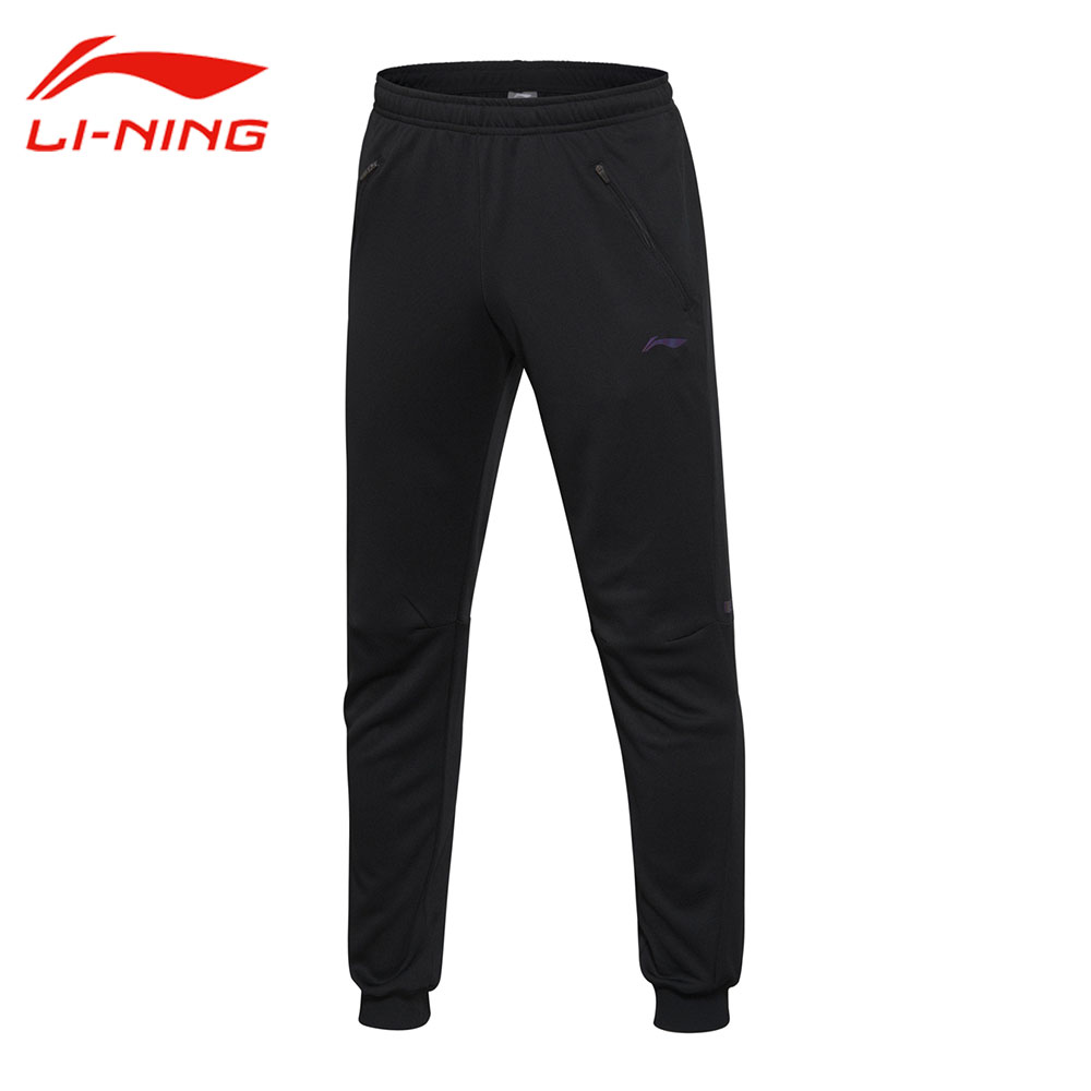 Li-Ning Mens AT DRY Cool Running Pants 100% Polyester Comfort Elastic Sports Pants LiNing Knitted Sports Trousers AKYM013<br>