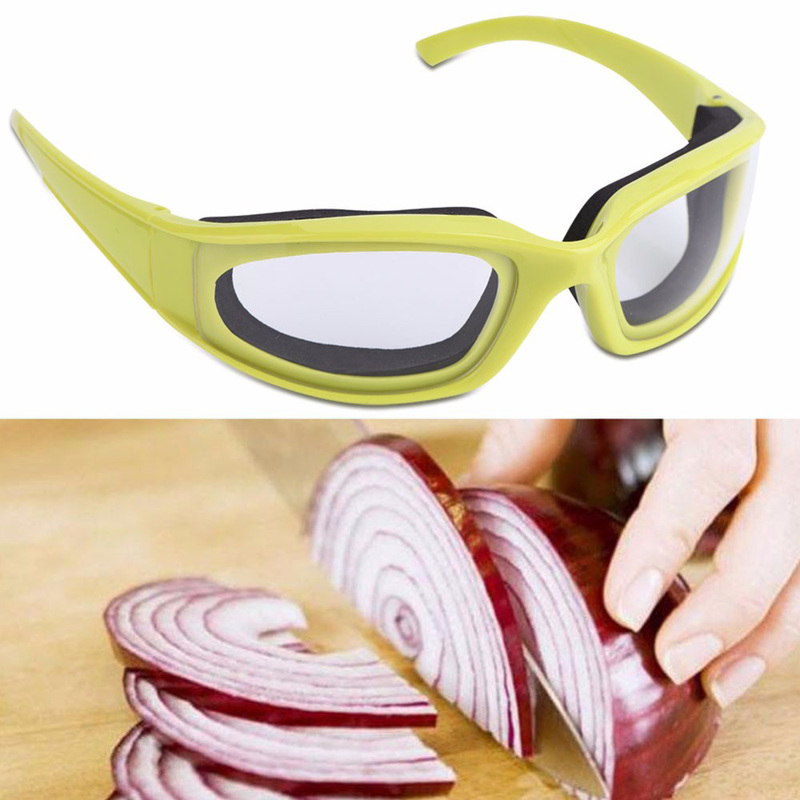 Shields Onion-Goggles Eyes-Protector Kitchen-Accessories Cooking-Tools Face 1pc Green-Color title=