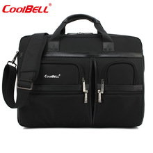 COOLBELL Big Capacity 17.3 Inch Laptop Handbag Protective Case Cover for Macbook Dell Lenovo Briefcase Shoulder Messenger Bag-FF(China)