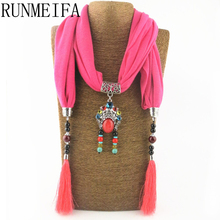 [RUNMEIFA] 2017 spring summer new arrival fashionable pendant skull scarf with skulls large tassel shawls scarves for women(China)
