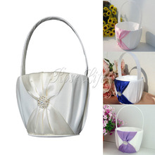 4Colors Flower Girl Baskets for Wedding Bridesmaid  Accessories Photography Props Bridal Favors