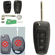 3 Buttons Flip Remote Key Fob With Chip 4D60 For Ford /Focus Mk1 /Mondeo /Transit/Connect 433Mhz(China)