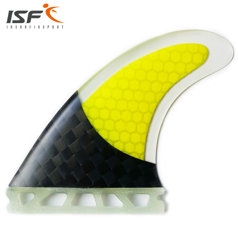Customize Grip Half Carbon Honeycomb Future Insurfin Yellow Surfboard Set Fins (3) Size G5(China)