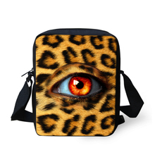 Cool Leopard Print Cross-body Bags for Children Kids Canvas Messenger Bags Eye Pattern Girls Women Spanish Bags Fashion Handbag