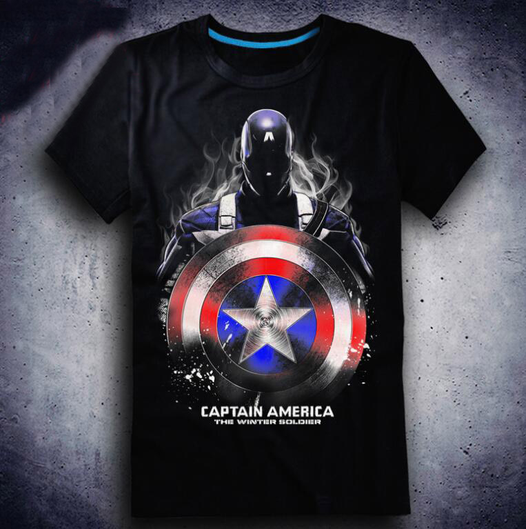2018 New Film Avengers T-shirt Anime Captain America T-shirts Fashion Cartoon Cosplay Tops Tees