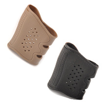 2 Color Rubber Pistol Anti Slip Grip Cover for Glock Series USP T12 CZ75 and Most Handguns of Hunting Gun Accessory