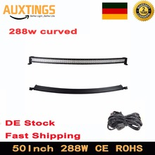 Germany stock free tax 50 inch 288w curved LED work light bar for off road 4X4 4WD Tractor Truck ATV SUV 12V/24V boat Combo beam(China)