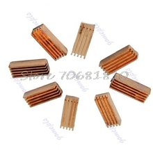 New 8Pcs Copper Heat Sink Heatsinks Cooler For PC Computer DDR DDR2 Memory RAM #R179T#Drop Shipping(China)