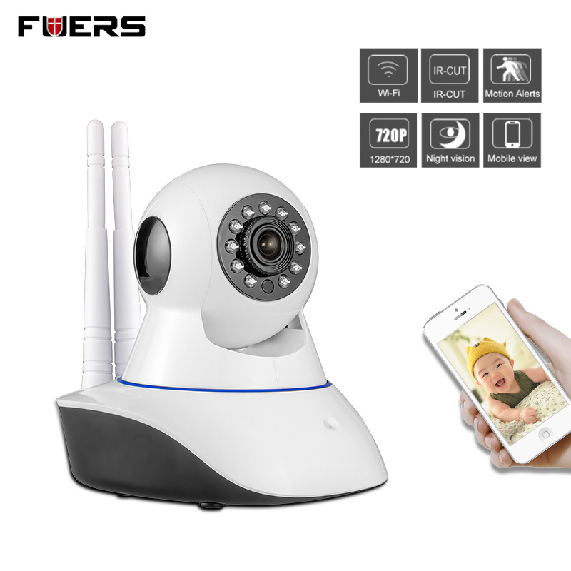 Fuers WiFi Camera Home Burglar Security Alarm Camera IOS/Android app remote control compatible with PIR detector IP camera<br>