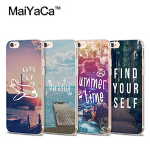MaiYaCa Cool Qoutes Airplane Sea Painted Soft Transparent TPU Phone Case Accessories Cover For iPhone 4s 5s 6s 7 plus case(China)