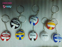 5 PCS Volleyball Keychain Business Birthday PVC Volleyball Gifts Volleyball Top Football Beach Ball Key Ring