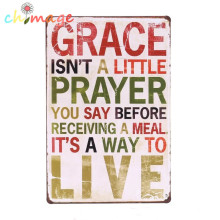 GRACE IS A WAY TO LIVE  Vintage Tin Sign Bar pub home Wall Decor Retro Metal Poster