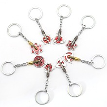 Japan anime cartoon Itachi Uchiha family NARUTO Keychain Sharingan seriesturnable pendant Key Rings Holder For Gift Chaveiro Car