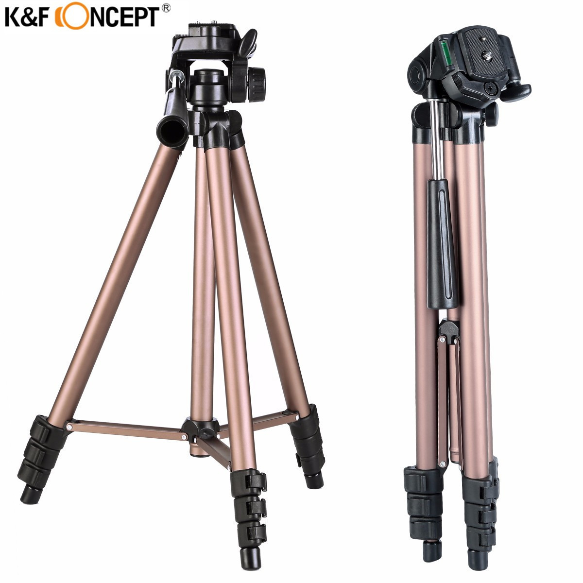 Newest K&F CONCEPT Professional Portable Alloy Camera Tripod With Pan Head Stand For Canon Nikon Sony SLR DSLR Digital Camera(China (Mainland))