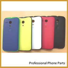 Genuine Original OEM Grip Shells for Motorola Moto G Back Cover Battery Housing Door Cover anti fall with leather Replacement