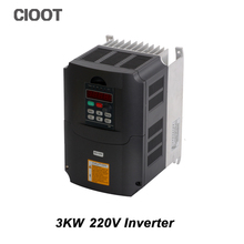 2017 Direct Selling Limited Inverter Grid Tie 3kw 220v Ac Variable Frequency Drive Vfd Inverter For 3.0kw Spindle 3000w(China)
