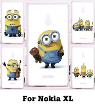 Luxury Print Cute Big Eyes Minions Cellphone Skin For Nokia XL Cases Specially DIY Design New styles Hard Plastic Phone Cases