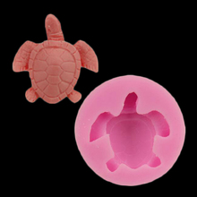 Diy Turtle Cake Decorator Bakery Tool Candy Chocolate Silicone Cake Mold Tortoise Decorations Pastry Soap(China)