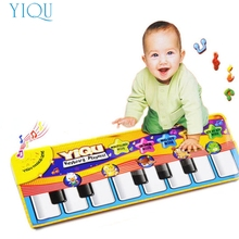 YIQU Best seller drop ship New Touch Play Keyboard Musical Music Singing Gym Carpet Mat Best Kids Baby Gift S15