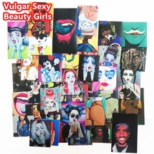 54 Pcs Vulgar Sexy beauty Girls Stickers Laptop Motorcycle Skateboard Doodle DIY Sticker Home decor Toy styling Television Decal(China)