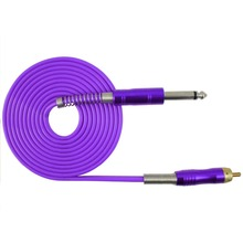 2.5M 1PC FLEXIBLE SILICONE RCA CLIP CORD FOR TATTOO POWER SUPPLY 04 AIR MAIL
