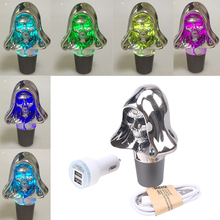 Car Styling Touch Activated LED Color Changing Skull Skeleton Style Car Gear Shift Knob Shifter Lever Fit Manual Transmission