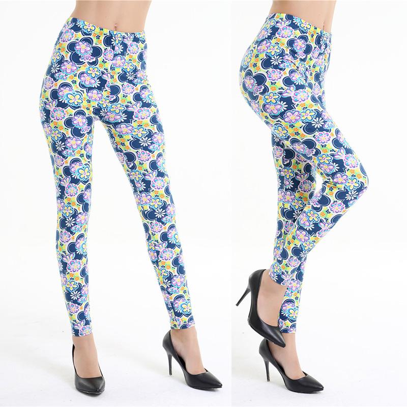 Dasbayla 17 Women Print Fashion Leggings Low Waist Thin stretch Ankle Skinny Pants Sexy Slim Ladies leggings Female 02 40
